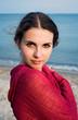 Bohemian girl on a beach