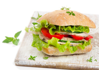 Fresh healthy sandwich