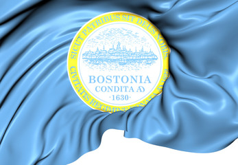Flag of Boston, USA.