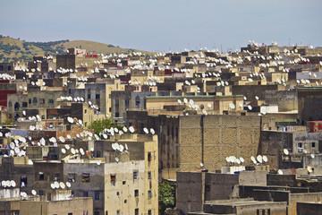 Rooftops of Fez medina
