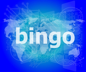 bingo word on business digital touch screen