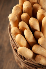 Breadsticks in basket