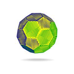 abstract brazil soccer vector illustration