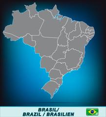 Karte von Brasilien mit Grenzen