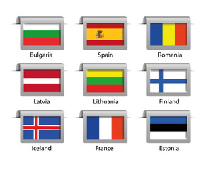 Flags set vector labels