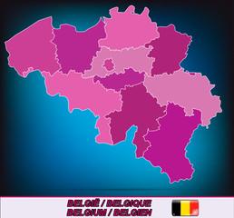 Grenzkarte von Belgien