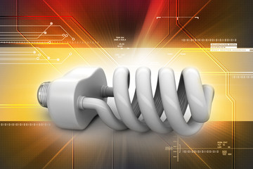 energy saving light bulbs isolated on  background