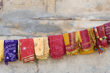 colorful saree, traditional costume , Rajasthan, India