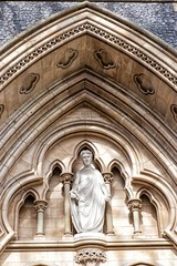 Detail from the facade of Southwark Cathedral, London