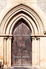 Old gothic church door