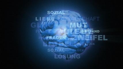 Digitales Gehirn Hintergrund