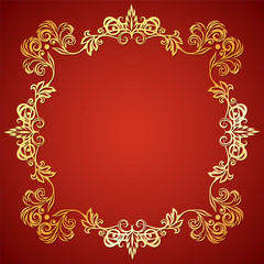 Vector illustration frame with floral ornament