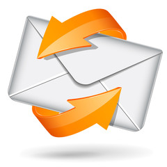 Vector orange email icon