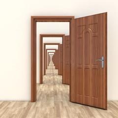 hallway open door