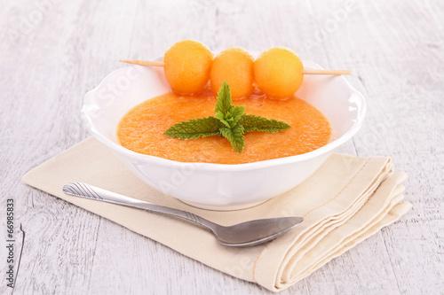 Fototapeta cold soup melon