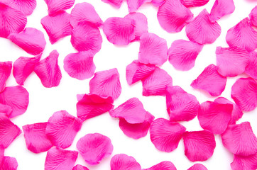 Background of pink petals