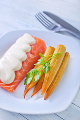 salmon and carrot