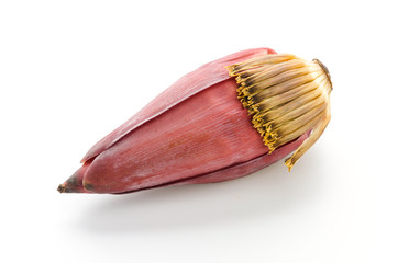 banana blossom isolated on white