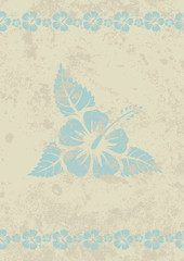 Vector grungy beige aloha background