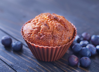 muffin with blueberry