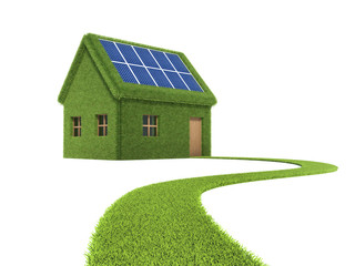 Clean energy, solar panel, house