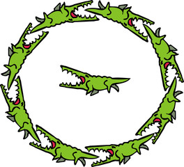 circle of crocodiles