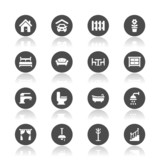 Fototapety Home icons
