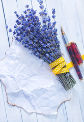 lavender and note
