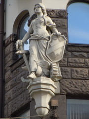 "Statue ""Woman with anchor and shield"""