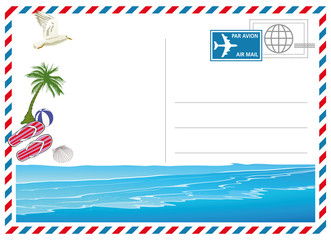 Urlaub und Reise Brief