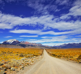The road in the pampas