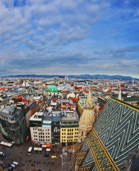 The Vienna from  bell tower of St. Stephen