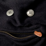 funny face of a sweater with zipper