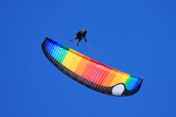 paraglider doing acrobatics