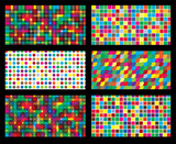colorful background geometric seamless repetitive vector graphic poster