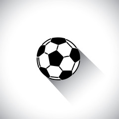 soccer or football in flat design vector icon