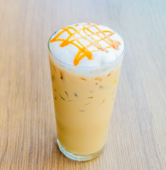Iced caramel coffee