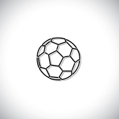 soccer or football vector icon
