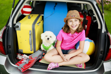 Summer holiday - family ready for the travel