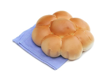 pane a forma di margherita_ sfondo bianco