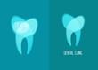 stomatology, healthy white teeth vector, flat design