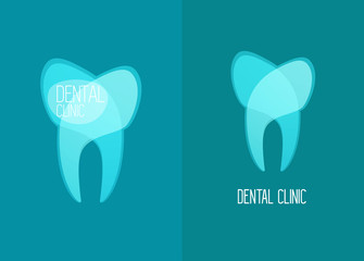 stomatology, healthy white teeth vector, flat design