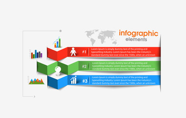 Business Modern Design Infographic Vector Banner Background.