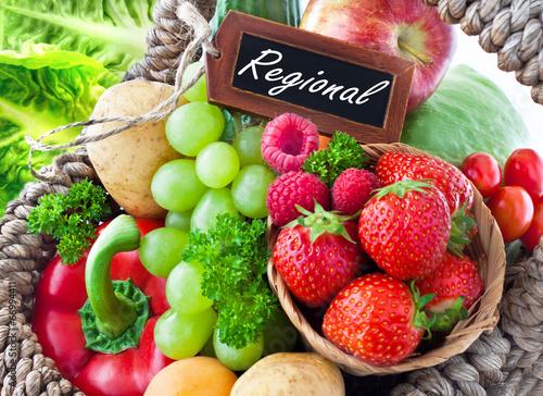 Papiers peints Cuisine Obst und Gemüse - Regional