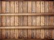 2 layers blank vintage wooden bookshelf