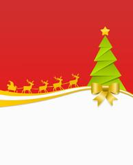 Weihnachten Karte Elche Baum