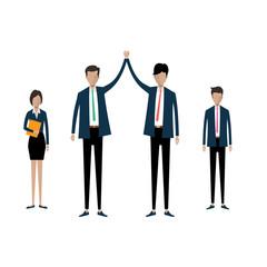Group business  teamwork