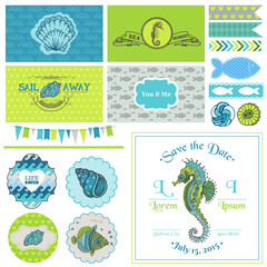 Vintage Seahorse Party Set - for Party Decoration, Scrapbook