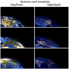 Global day/night business card templates.