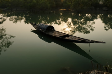 Traditional fishing boat in India